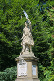Monunent de Jan Kilinski en el parque de Stryiskyi Lviv, Ucrania imagenes de archivo