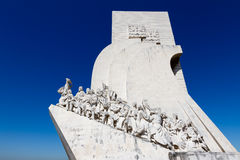 The Monunent to the Discoveries in Lisbon, Portugal. Padrao dos Descobrimentos (Monument to the Discoveries) is a monument on the northern bank of the Tagus Stock Photos