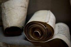 Monuskript del vintage en la tabla fotografía de archivo