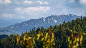 Monutains. Mountains with cloudy sky in Slovakia Stock Images