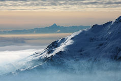 Monviso in the clouds Royalty Free Stock Image