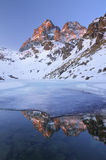 Monviso from Fiorenza lake- Italy Royalty Free Stock Photography
