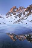 Monviso from Fiorenza lake- Italy royalty free stock photography