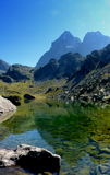 Monviso reflected in the green lake Piedmont Italy Royalty Free Stock Photography