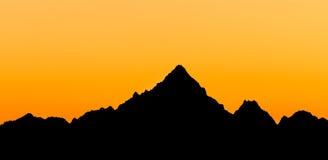 Monviso  silhouette, Piedmont, Italy Stock Photography
