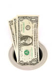 Mony Down the Drain stock image