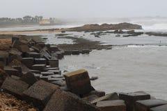 Monzón en la playa Fotografía de archivo