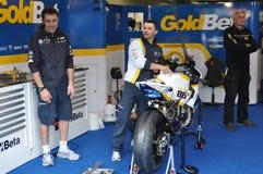 Monza 2012 - BMW Motorrad Italië Goldbet Royalty-vrije Stock Afbeelding