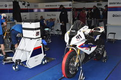 Monza 2012 - BMW Motorrad Motorsport Racing Team Royalty Free Stock Images