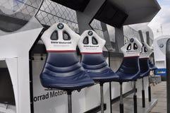 Monza 2012 - Pared del hueco de BMW Motorrad Motorspot Fotografía de archivo