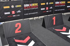 Monza 2012 - Superbike podium Stock Images