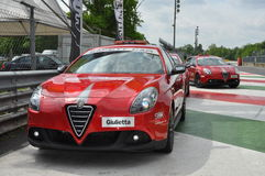 Monza 2012 - Superbike - Safety cars Royalty Free Stock Photography