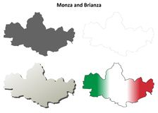 Monza and Brianza blank detailed outline map set. Monza and Brianza province blank detailed outline map set Stock Photos