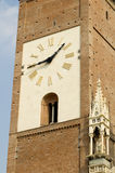 Monza Cathedral's clock. Monza Cathedral, is the main church of the city and is dedicated to San Giovanni Battista. It was built between the XIV and the XVII Royalty Free Stock Photos