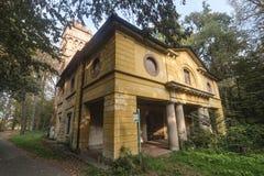 Monza Italia, il parco in autunno laminatoio Immagini Stock Libere da Diritti