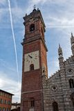 MONZA, ITALY/EUROPE - OCTOBER 28 : Exterior view of the Cathedral in Monza Italy on October 28, 2010 royalty free stock photography