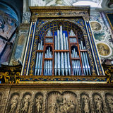 MONZA, ITALY/EUROPE - OCTOBER 28 : Organ in the Cathedral duomo. In Monza Italy on October 28, 2010 Stock Photos