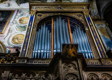 MONZA, ITALY/EUROPE - OCTOBER 28 : Organ in the Cathedral duomo. In Monza Italy on October 28, 2010 Royalty Free Stock Photography