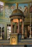 MONZA ITALY/EUROPE - OKTOBER 28: Altare i kyrkan av St Ger royaltyfri fotografi