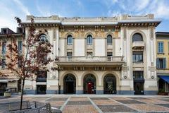 MONZA, ITALY/EUROPE - 28 OKTOBER: De Bouw van bankdesio in Monza Stock Foto