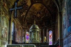 MONZA ITALY/EUROPE - OKTOBER 28: Inre sikt av cathedraen arkivfoton