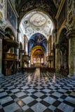 MONZA ITALY/EUROPE - OKTOBER 28: Inre sikt av cathedraen royaltyfri fotografi