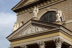 MONZA, ITALY/EUROPE - 28 OKTOBER: Voorgevel van de Kerk van St Duitsland stock fotografie