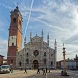 MONZA, ITALY/EUROPE - PAŹDZIERNIK 28: Wielki round okno kot zdjęcia stock