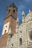 Monza Italy: historic cathedral. Monza Brianza, Lombardy, Italy: historic cathedral exterior, facade Duomo Royalty Free Stock Photo