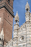 Monza Italy: historic cathedral. Monza Brianza, Lombardy, Italy: historic cathedral exterior, facade Duomo Royalty Free Stock Photos