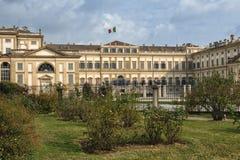 Monza Italy: Royal Palace, the gardens Stock Photos