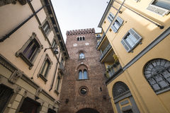 Monza Italy, the Teodolinda tower Stock Images
