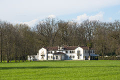 Monza Park (Italy). Old white villa in the Monza Park (Milan, Lombardy, Italy) at early spring Stock Photos