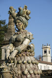 Monza park Italy: statue by Ferretti Royalty Free Stock Photos