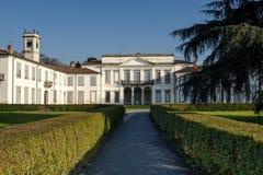 Monza park Italy: Villa Mirabello. Monza Brianza, Lombardy, Italy: exterior of Villa Mirabello, historic palace built in 17th century Stock Photography