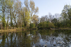Monza Park: Lambro river Royalty Free Stock Images
