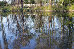 Monza Park: Lambro river Stock Photo