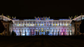 Monza - Villa Reale. Monza - colorful villa Reale at night with dark sky Royalty Free Stock Photos