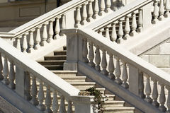 Monza, Villa Reale: staircase. Monza (Brianza, Lombardy, Italy): staircase of the Villa Reale, historic palace in the Monza Park Royalty Free Stock Photos