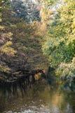 Monza Włochy: Lambro rzeka w parku Zdjęcia Stock