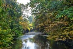 Monza Włochy: Lambro rzeka w parku Obrazy Stock