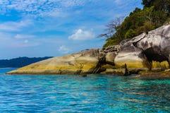 Moo酸值surin海岛, Phang Nga,泰国 免版税图库摄影