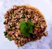 MOO de Larb la nourriture épicée thaïlandaise Photo libre de droits
