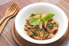 Moo Nam Tok, Thai food Stock Photography