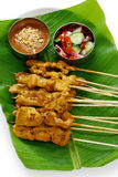 MOO satay, carne de porco satay, culinária tailandesa Fotografia de Stock Royalty Free