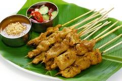 MOO satay, porco satay, cucina tailandese Immagini Stock