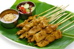 Moo satay, pork satay, thai cuisine Stock Images