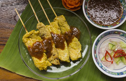 Moo satay, pork satay, thai cuisine Stock Images