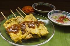 Moo satay, pork satay, thai cuisine Royalty Free Stock Images