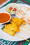 MOO tailandese squisito SATAE di chiamata dell'alimento Immagini Stock Libere da Diritti